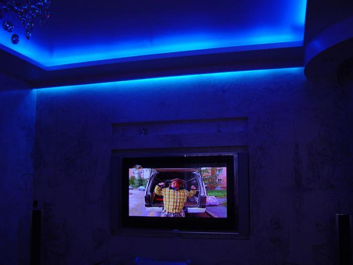 Неоновая подсветка на потолок